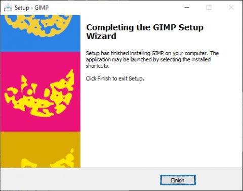 GIMPのインストール インストール完了